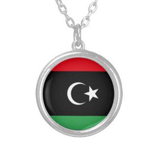 Flag of Libya Round Pendant Necklace