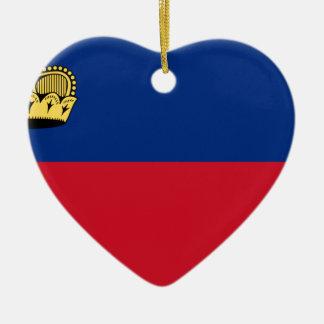 Flag_of_Liechtenstein Ceramic Ornament