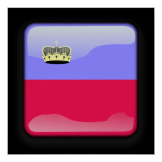 Flag of Liechtenstein Poster