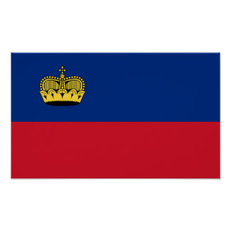 Flag of Liechtenstein Poster