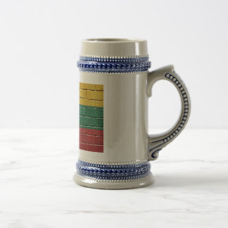 Flag of Lithuania Beer Stein