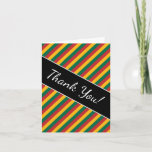 [ Thumbnail: Flag of Lithuania Inspired Colored Stripes Pattern Card ]