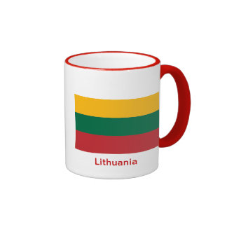 Flag of Lithuania Ringer Coffee Mug