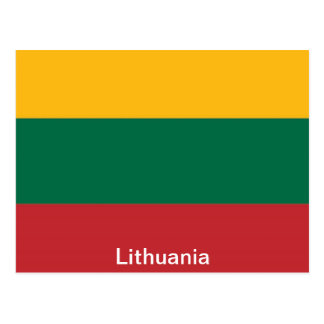 Flag of Lithuania Postcard