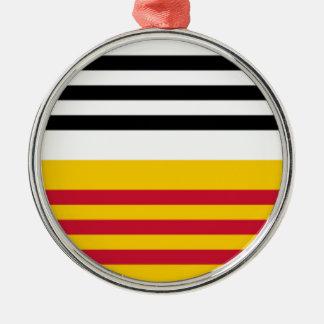 Flag of Loon op Zand Metal Ornament
