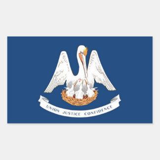 Flag of Louisiana Rectangular Sticker