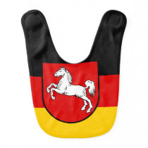 Flag of Lower Saxony Baby Bib