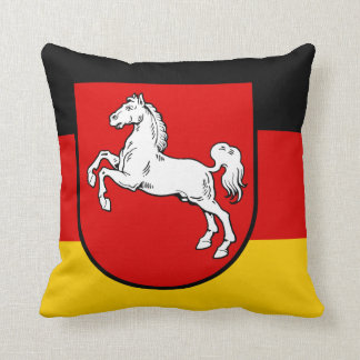Flag of Lower Saxony Throw Pillow