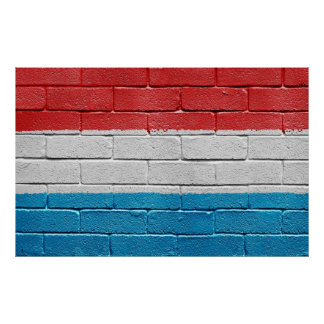 Flag of Luxembourg Poster