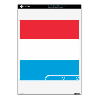 Flag of Luxembourg Decals For PS3 Slim