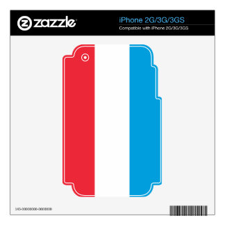 Flag of Luxembourg Skin For The iPhone 3G