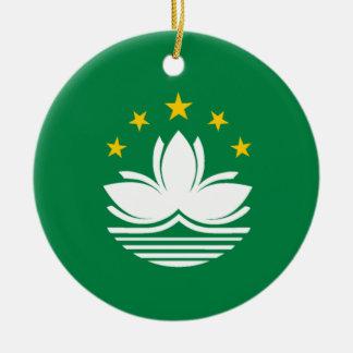 Flag of Macau Ceramic Ornament
