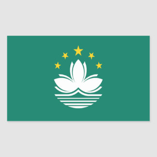 Flag of Macau Rectangular Stickers