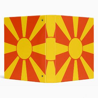 Flag of Macedonia Binder