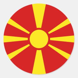 Flag of Macedonia Classic Round Sticker