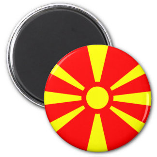 Flag of Macedonia 2 Inch Round Magnet