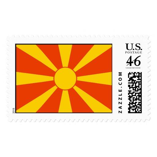 Flag of Macedonia Stamp