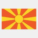 Flag of Macedonia Rectangular Stickers