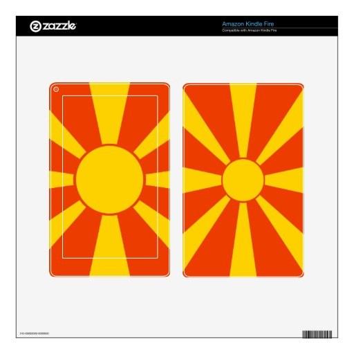 Flag of Macedonia Skins For Kindle Fire