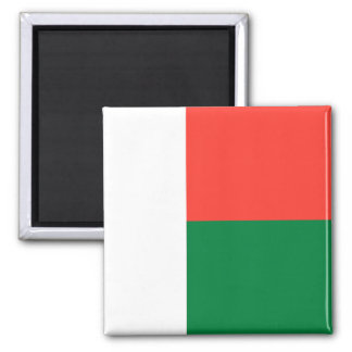 Flag of Madagascar 2 Inch Square Magnet