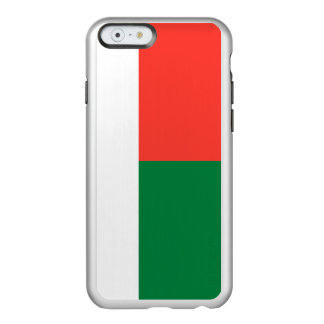 Flag of Madagascar Silver iPhone Case