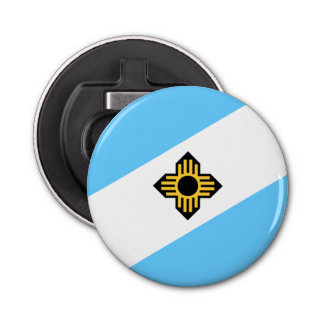 Flag of Madison, Wisconsin Bottle Opener