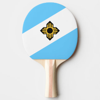 Flag of Madison, Wisconsin Ping-Pong Paddle