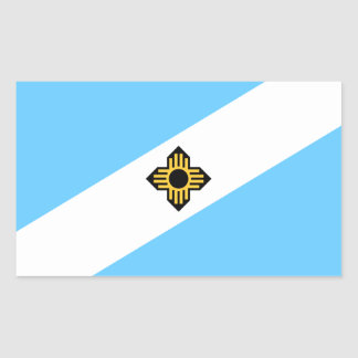 Flag of Madison, Wisconsin Rectangular Sticker