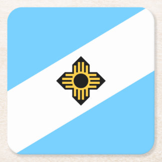 Flag of Madison, Wisconsin Square Paper Coaster