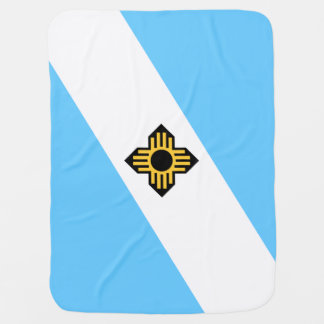 Flag of Madison, Wisconsin Swaddle Blanket