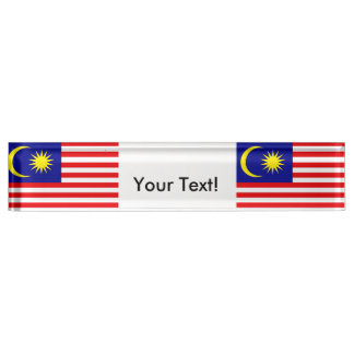 Flag of Malaysia Desk Name Plate