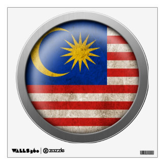 Flag of Malaysia Disc Wall Decal