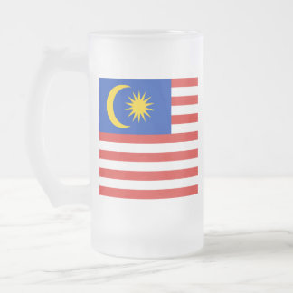 Flag of Malaysia Jalur Gemilang Frosted Glass Beer Mug
