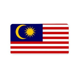 Flag of Malaysia Labels