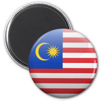 Flag of Malaysia 2 Inch Round Magnet