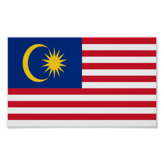 Flag of Malaysia Poster