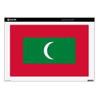 """Flag_of_Maldives 17"""" Laptop Skins"""