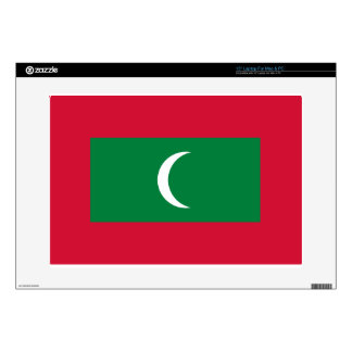 """Flag_of_Maldives Decal For 15"""" Laptop"""