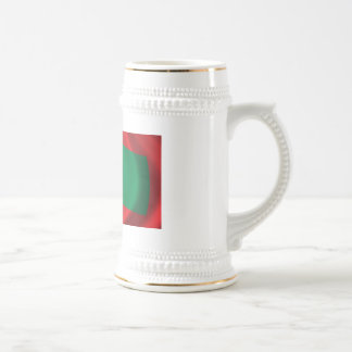 Flag of Maledives waving in the wind 18 Oz Beer Stein