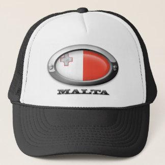 Flag of Malta in Steel Frame Trucker Hat