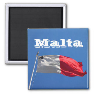 Flag of Malta 2 Inch Square Magnet