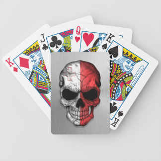 Flag of Malta on a Steel Skull Graphic Card Deck