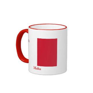 Flag of Malta Ringer Coffee Mug