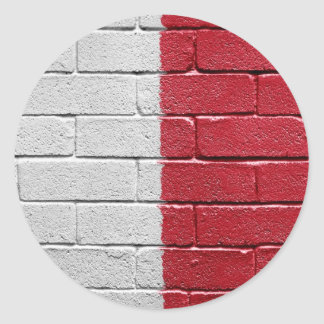 Flag of Malta Round Stickers