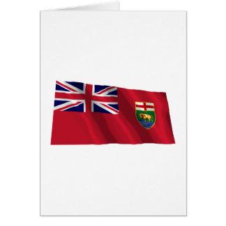 Flag of Manitoba, Canada Card