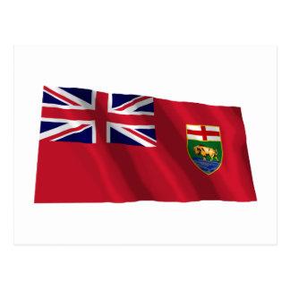 Flag of Manitoba, Canada Postcard