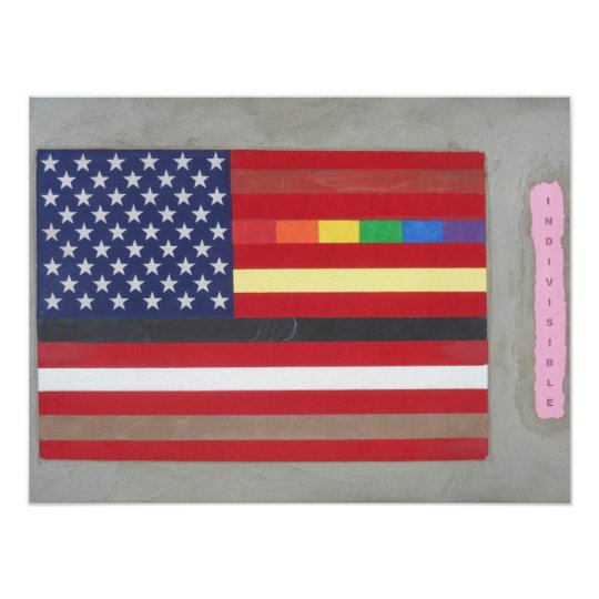 Flag of many colors poster
