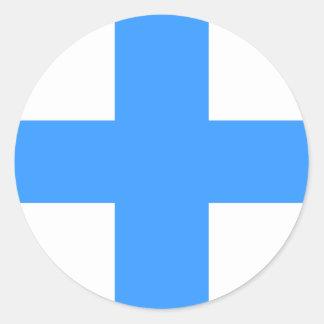 Flag of Marseille Classic Round Sticker
