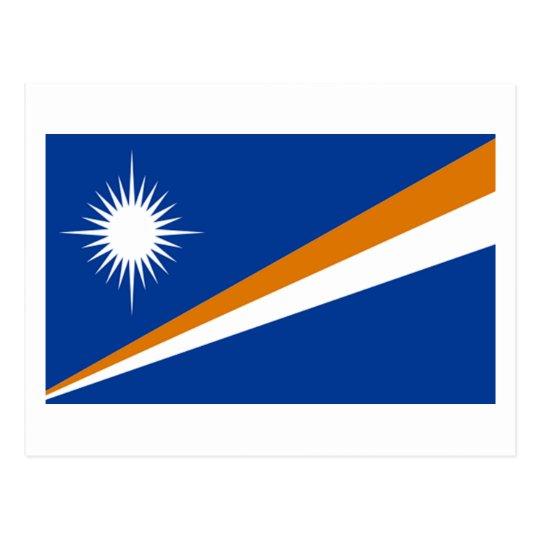 Flag of Marshall Islands Postcard