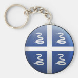 Flag of Martinique Key Chains